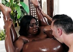 massage sex - young ebony porn